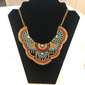 Boho Tribal Bib Necklace
